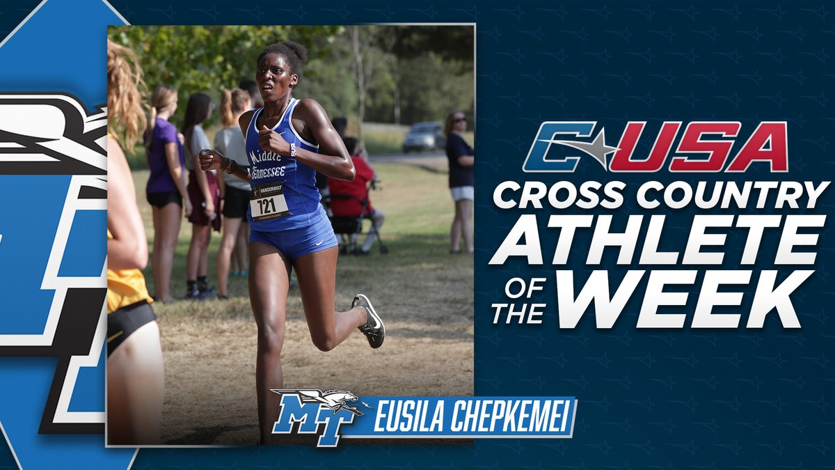 📢: Congratulations to @MT_TrackField's Eusila Chepkemei, #CUSAXC Women's Athlete of the Week! 🏃♀️  🏅1️⃣ | #TheCUSAWay https://t.co/QJfFhCsGE4