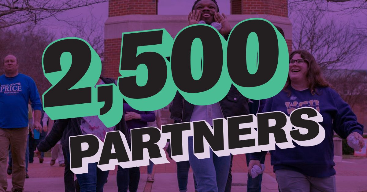 🚨 Major Milestone Alert 🚨  We have officially hit our goal of 2,500 #VoteEarlyDay partners! We are so grateful for all the hard work that has gone into spreading the word. This truly is a partner-powered movement, and we can't wait to make history with all of you THIS SATURDAY! https://t.co/SBZ4i9odFm