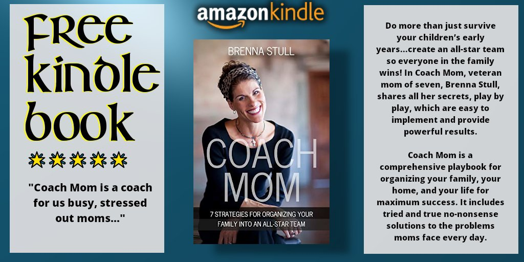 "#FREE #KINDLE #BOOK Coach Mom: 7 Strategies for Organizing Your Family into an All-Star Team by Brenna Stull https://t.co/8hZLRUrJ8q #5StarReviews ""Such a great book, now I am sending it to my daughter to help organize her clan!"" #nonfiction #selfhelp #parenting #ebook @BSPBooks https://t.co/d2ufr0HOeM"