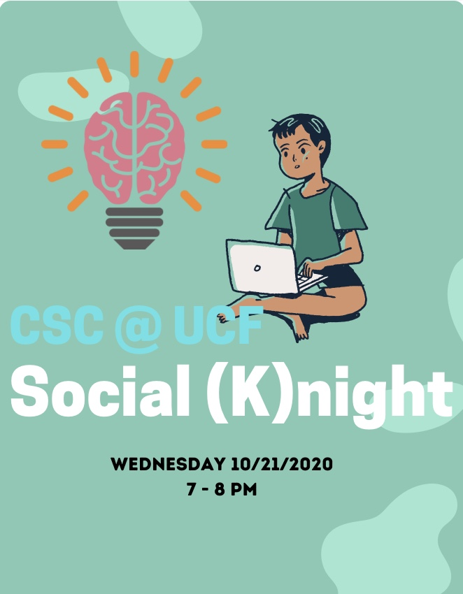 Hey Knights!  This week we will be having a Social (K)night on  Wednesday, October 21, 2020 at 7pm.  Join us for games and laughs!   Join Zoom Meeting: https://t.co/tScZAUe7lP Zoom Meeting ID: 978 3391 5221 https://t.co/Cbj5QXHKs2