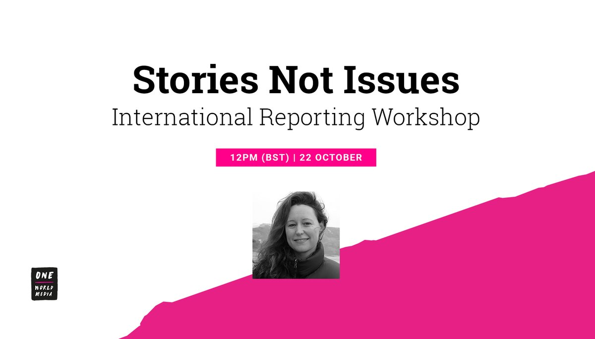 5⃣Stories Not Issues: Join investigative #journalist & #filmmaker @JulesNoon for this workshop on how to engage audiences with your reporting – from identifying good stories to creative #storytelling techniques.  Oct 21-22 | #OWMSummit2020 🎟️Book now: https://t.co/mPosTFuC5y https://t.co/VVTvcRTvkT
