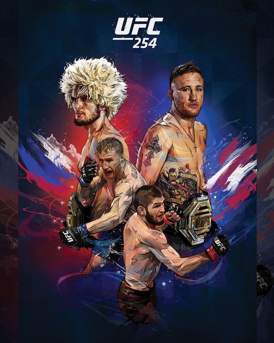 Gostaram do pôster especial do #UFC254? Neste sábado (24), a partir de 11h30 (Horário de Brasilia) no Canal Combate  [ 🎨: @YannDalon ] https://t.co/jnw5yIlJs7