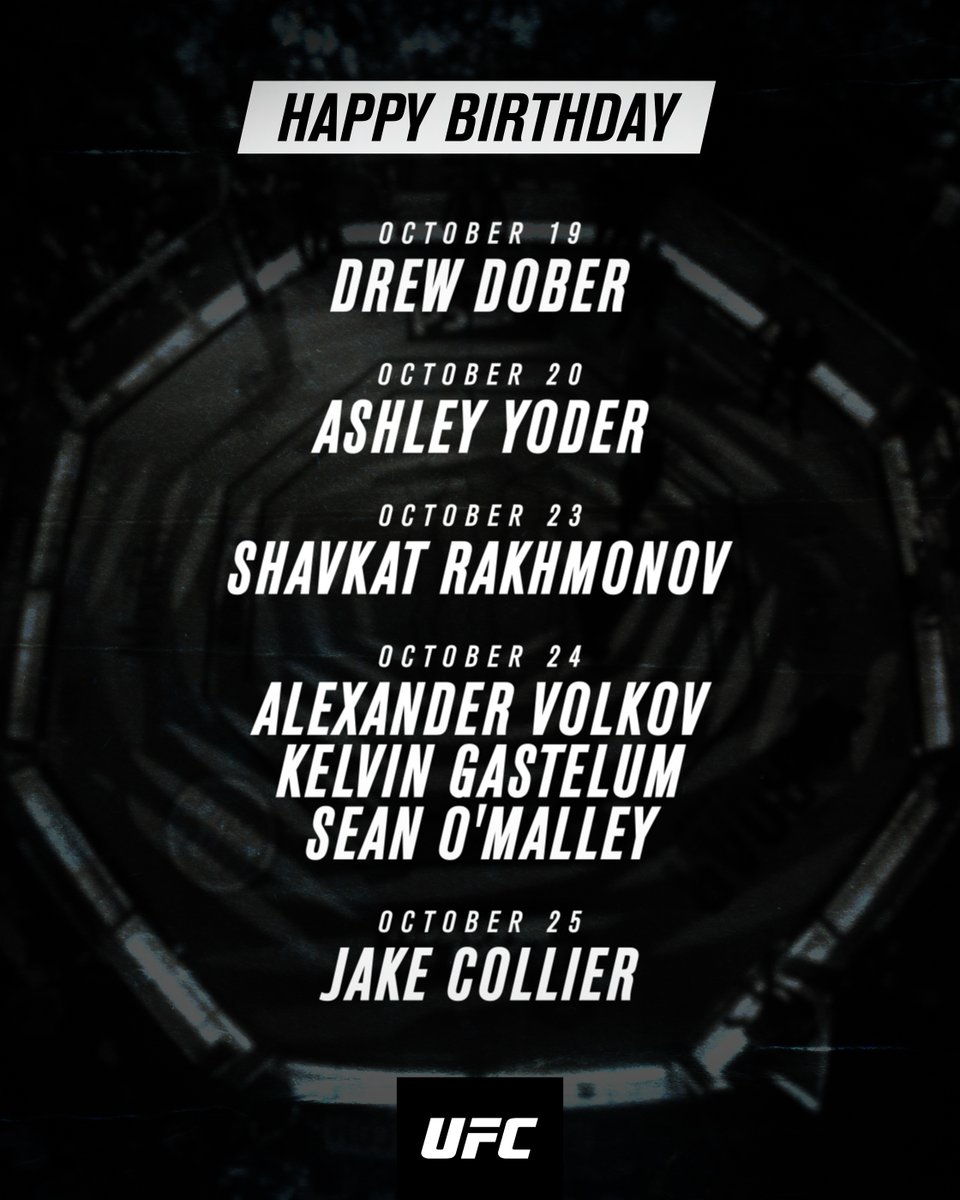 Replying to @ufc: Wish them well 🎈 We've got a full week of UFC birthdays!