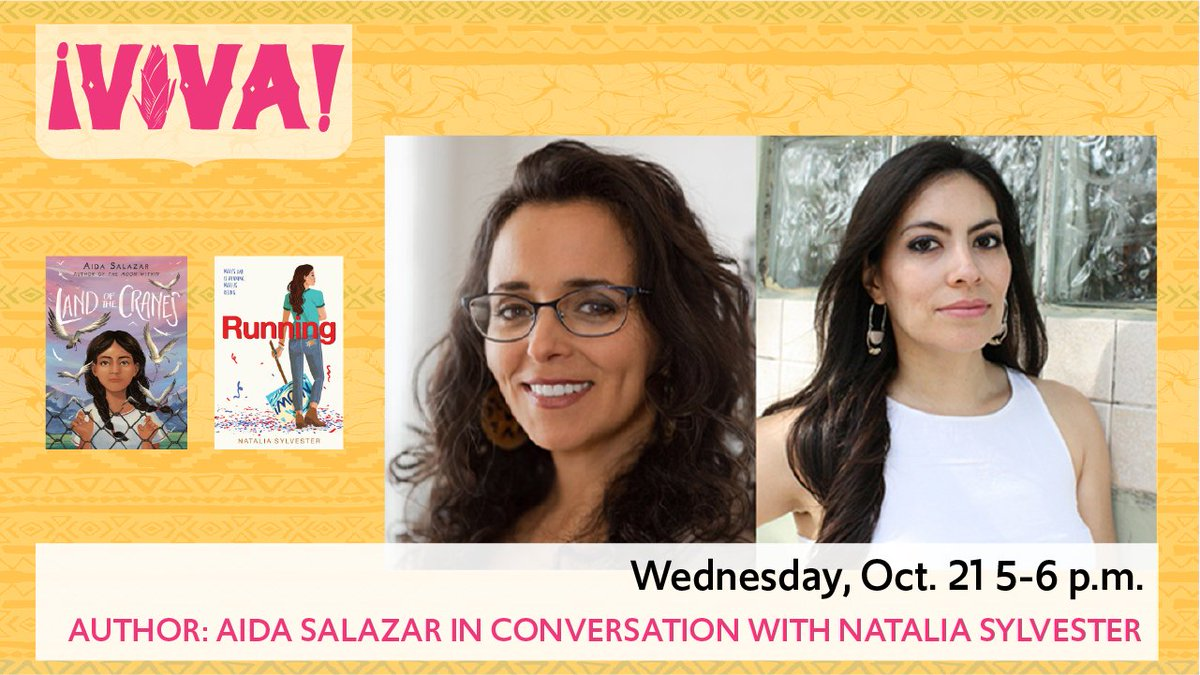 Happily, this program is TODAY, 10/21, 5 PM. Tune in for a can't-miss conversation!