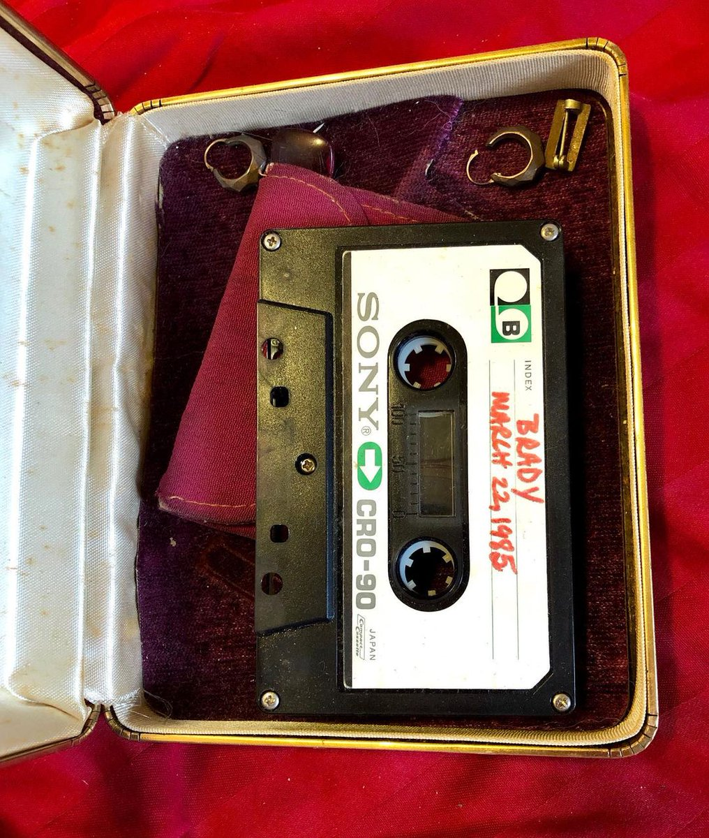 """Just found a #cassette of the first #interview I ever did (for my high school literary magazine): #JimBrady, White House #PressSecretary, post-gunshot wound. As soon as the interview cuts off, you can hear me singing Teena Marie's """"Playboy."""" #1985 https://t.co/hLnKguM62h"""