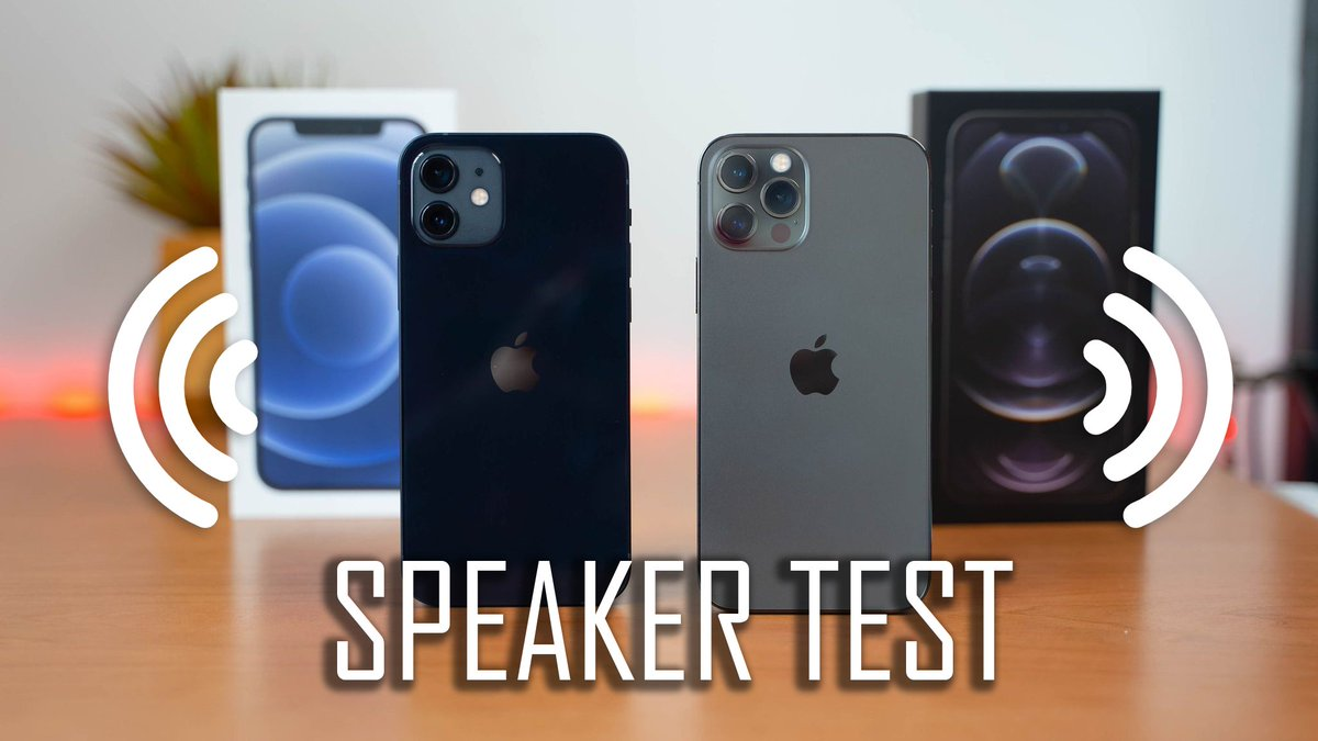 NEW VIDEO!!! iPhone 12 & 12 Pro Speaker Test!! >>>>https://t.co/pReyOT1ncW  #iPhone12 #iphone12pro https://t.co/2r6vcgKrvF
