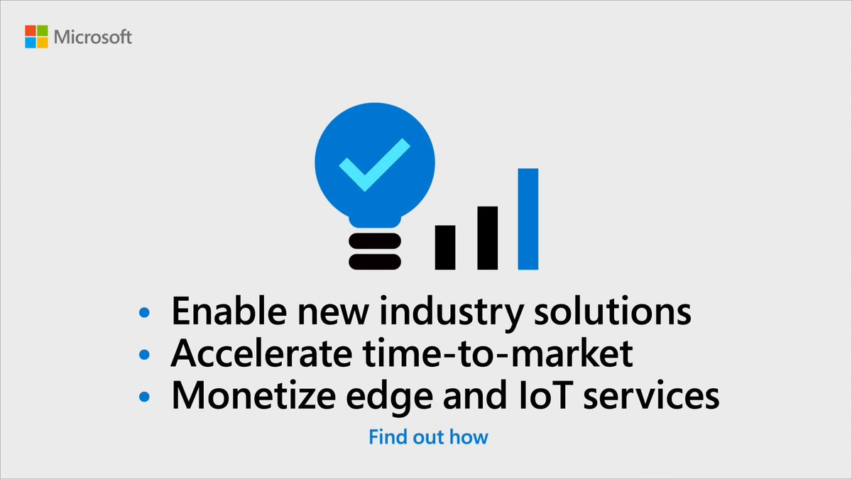 Create an open, intelligent platform for over-the-top partnerships that unlock new revenue streams. Discover how: msft.it/6014T2dUM #IoT
