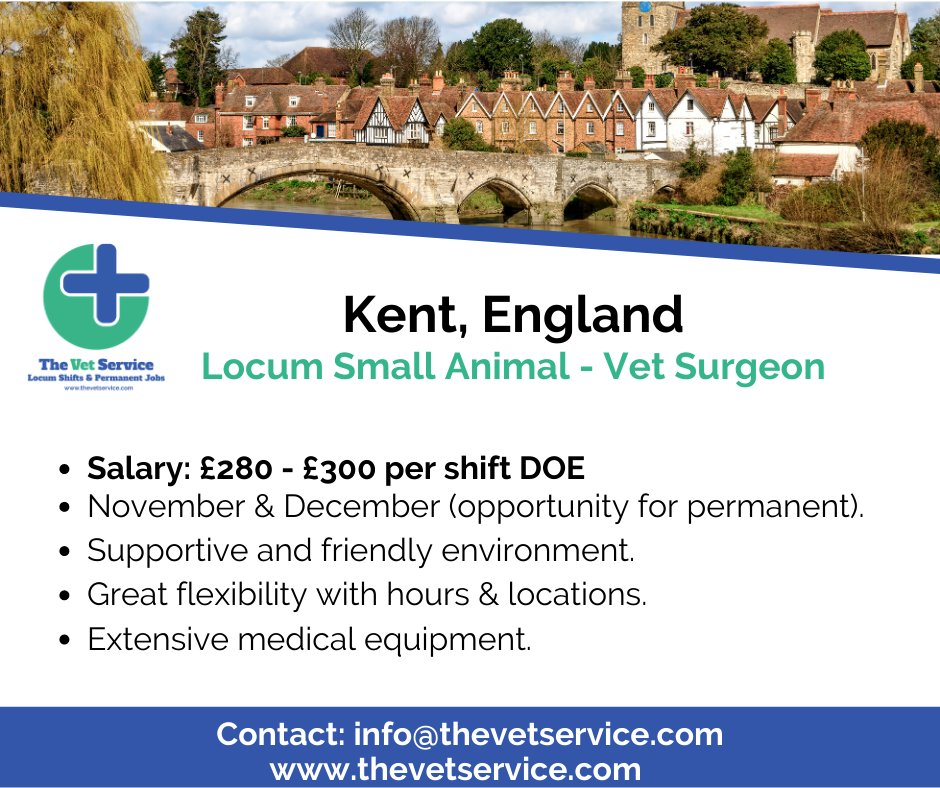 I 'Kent' believe it! What a location!  https://t.co/SP0CEF1cEx  #thevetservice #vetstudents #vet #veterinarymedicine #veterinarysurgeon #vetlifestyle #vetlife #vetlocum #vetjob #vetjobs https://t.co/5nrS4zHHCT