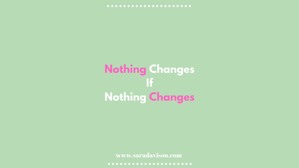 If we want something to change we can't keep doing the same things...Nothing changes if nothing changes!! #TheDivorceCoach #surviveandthrive #divorce #divorced #lifeafterdivorce #divorcedlife #newlife #freshstart #nothingchangesifnothingchanges #liveyourbestlife #bestlife https://t.co/DB1UdfRTlD