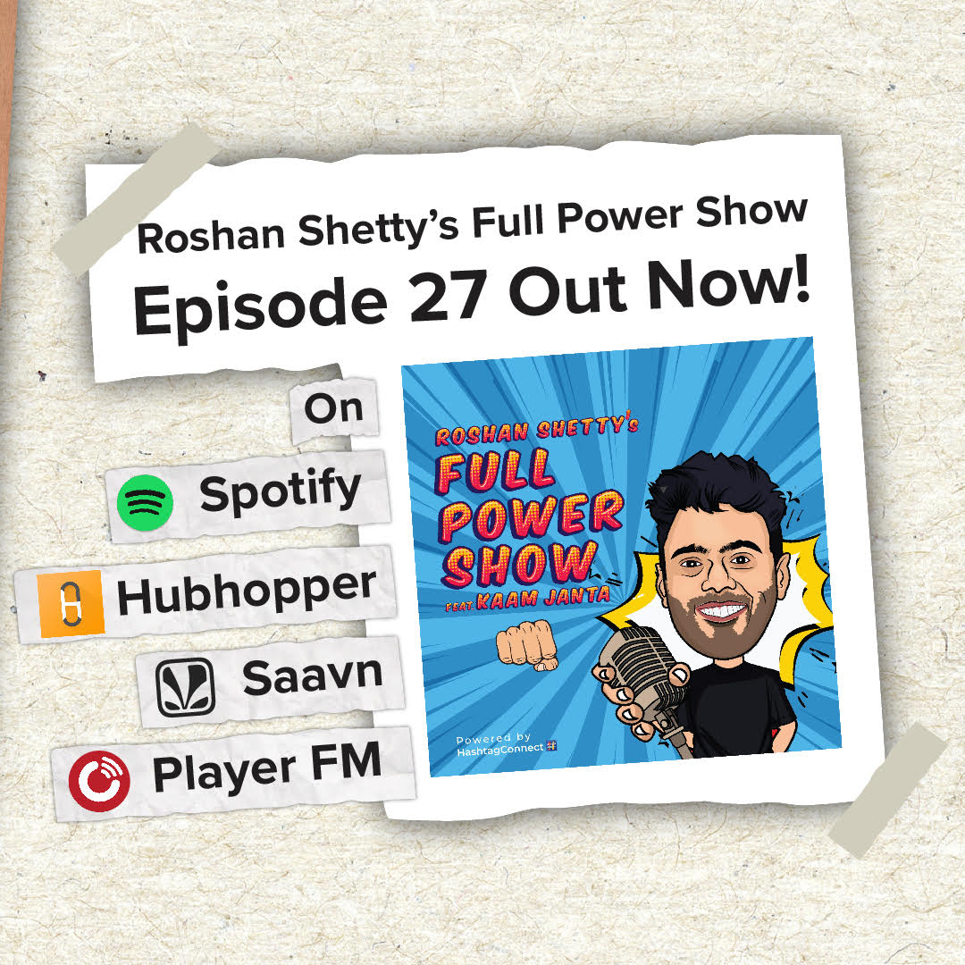 दुनिया सजी तेरे लिए, खुद को ज़रा पहचान तू! The 26th episode of my podcast Roshan Shetty's Show feat Kaam Janta is out now! Go check it out! https://t.co/PCf3gfuH5t #podcast #podcasting #fullpower https://t.co/kpvFXcoZt0