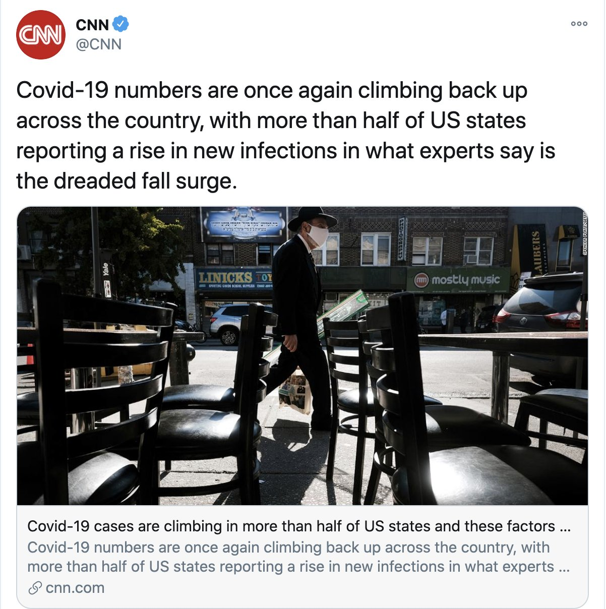 Mark D Levine On Twitter Cnn Tweets A Story On The Many States Nationally Where Covid Cases Are Rising New York As Of This Week Not Being One Of Them And The