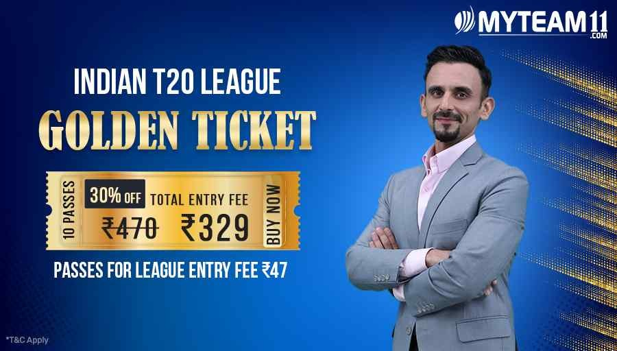 This Indian T20 season seems full of offers! Get 30% discount on Golden Ticket of 10 passes only on https://t.co/E9ltq12F1y! #IndiaKiApniFantasyApp #MyTeam11 https://t.co/fqTEvobRb7