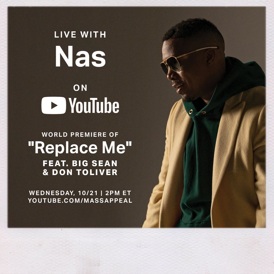 """Going live tomorrow 2pm ET on @youtubemusic + world premiere of """"Replace Me"""" video ft @BigSean @DonToliver @Hit_Boy. Tune in! https://t.co/gwYlH3Ftu7"""