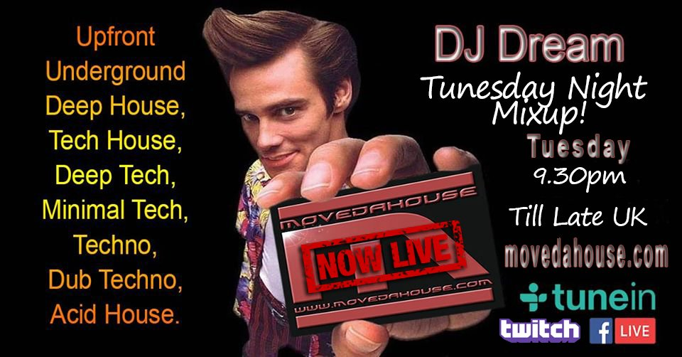 #tuesday #livestreaming #radio from 9pm #UK 9:30pm-late uk DJ Dream - Tuesday Mix Live! #housemusic #deephouse #techhouse #techno #dubtechno #deeptech  #acidhouse #microhouse #Listen #internetradio :https://t.co/616h5fx4QT https://t.co/Sra6sYM9kB