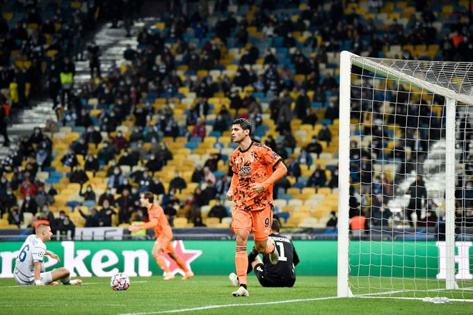 Juventus derrota a Dínamo de Kiev con doblete de Morata en el segundo tiempo