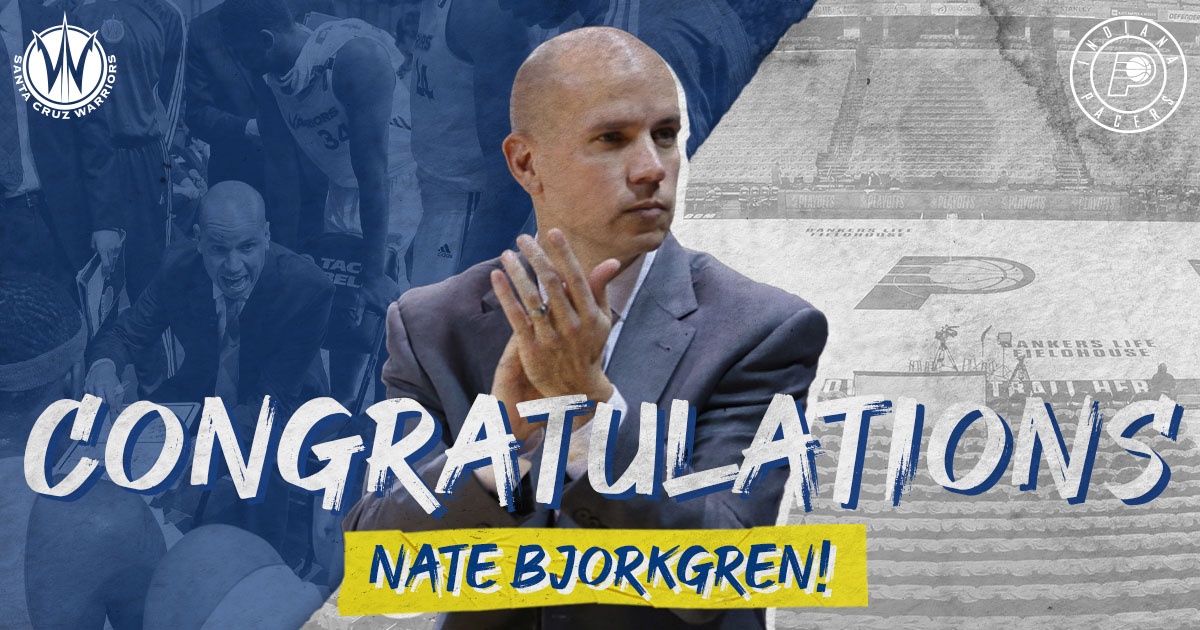 Congratulations to former #SeaDubs Head Coach Nate Bjorkgren on being named the Indiana @Pacers Head Coach!  Coach Bjorkgren led the Sea Dubs to a 32-18 record during the 2012-13 season! https://t.co/XbKAKcZdeF