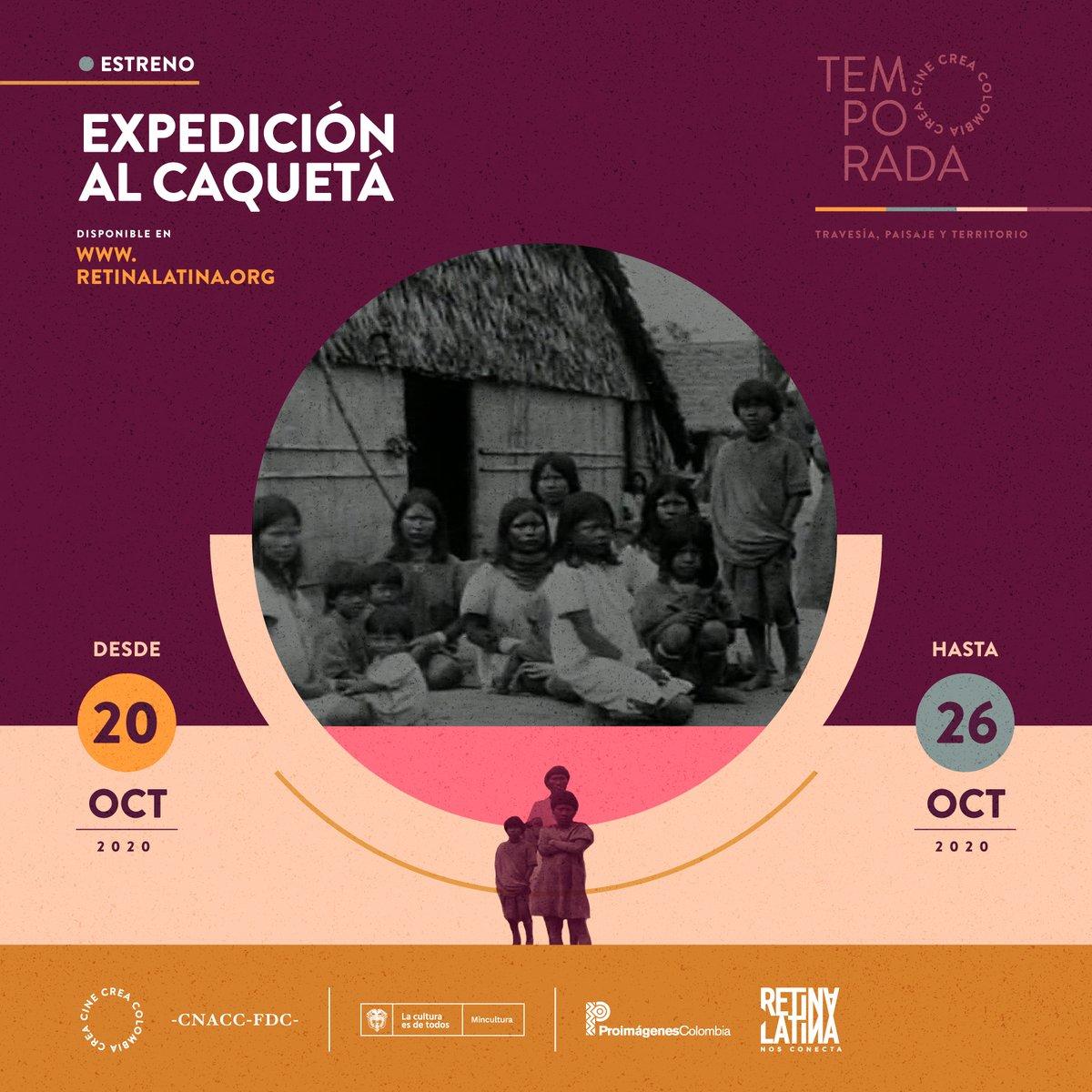 #CineColombiano En el marco de la temporada #CineCreaColombia podrás ver online y de manera gratuita, hasta el 26 de octubre, el documental Expedición al Caquetá (1930-1931), filmado por César Uribe Piedrahíta.  Disponible en: https://t.co/mjgx3XYa4C https://t.co/2lToLSwSvC