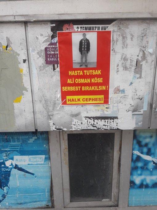 İkitelli Halk Cephesi Hasta Tutsak Ali Osman Köse İçin Yazılama Yaptı