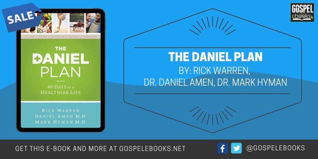 KINDLE DEAL (Today Only): The Daniel Plan: 40 Days to a Healthier Life https://t.co/lLthEYTD4g #ad #Diet #DanielPlan #danieldiet #healthyliving @Zondervan @RickWarren @DocAmen @MarkHymanmd https://t.co/kh6a1jSIQa