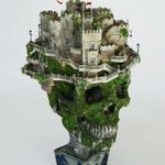 Image for the Tweet beginning: Bonsai Skull Castle by Japanese