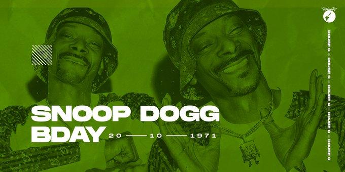 O happy birthday de hoje vai pra essa lenda viva do rap: Snoop Dogg.
