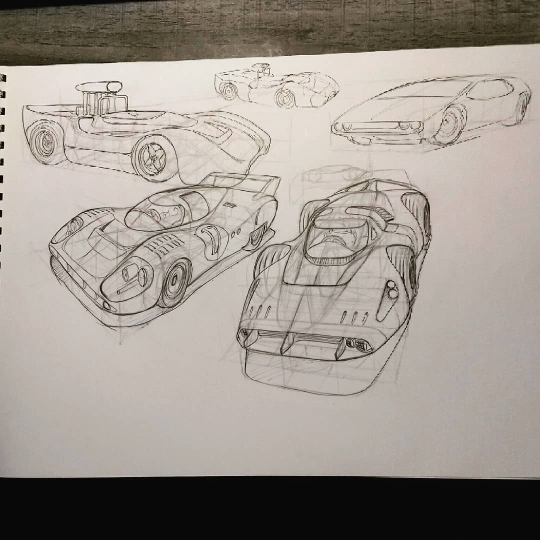Some refined sketches of sum speedy bois #speedracer #racecars #LeMans24 #retroaesthetic #ballpoint #BallPointPen https://t.co/O0UXeoUZoQ