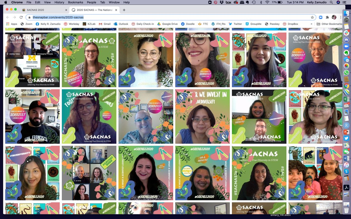 I'm loving the photo booth at @SACNAS2020!! This is what scientists look like! 👏 #truediversity #diversityinSTEM https://t.co/7f2NwI2Ix3