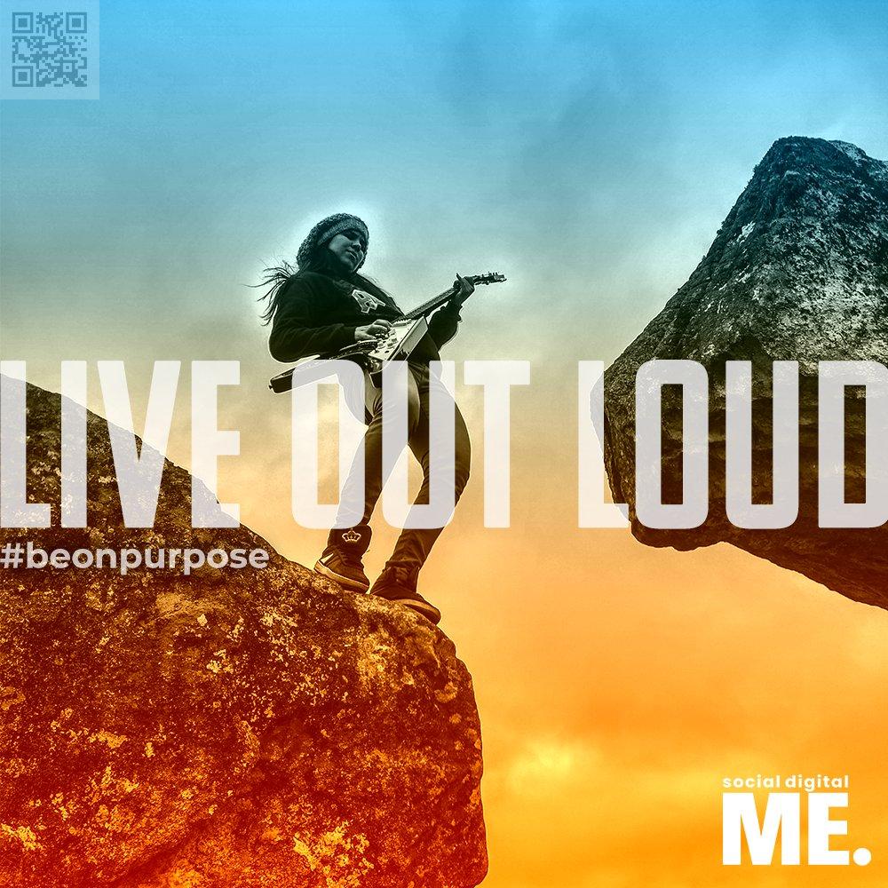 LIVE OUT LOUD.  #beonpurpose #letsbegreat #liveoutloud #live #success #positivity #positivevibes #grow #growth #mindset #perspective  #inspirationalquotes  #motivationalquotes #goodvibes #quotes #thoughts #advice #wisewords #wisdom #socialdigitalme #social #digital #me https://t.co/56lH06M2lq