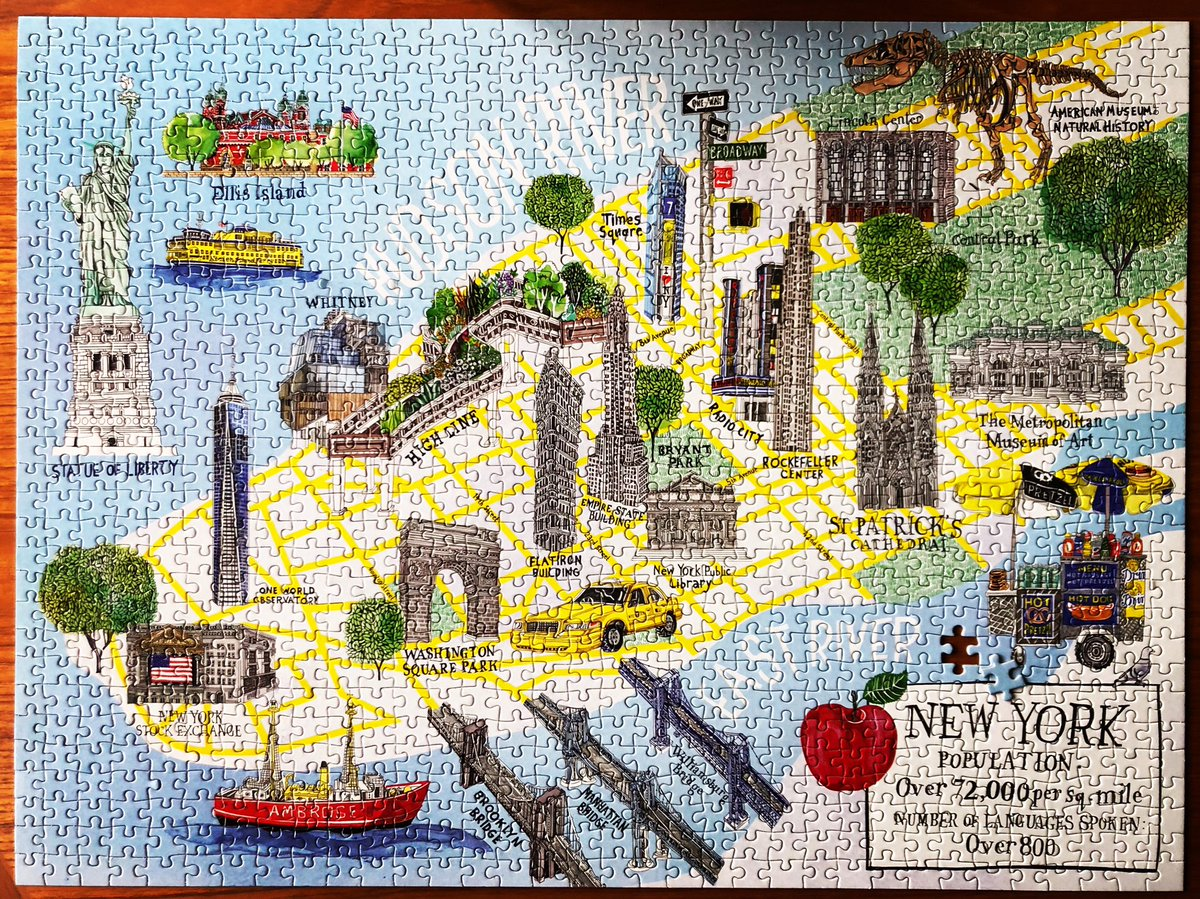 It only takes one who gets the picture - and brings it all together. #vote #nyc #puzzle  #jigsawpuzzle #WereInThisTogether  #ComeTogether https://t.co/ChVOlO7rKS