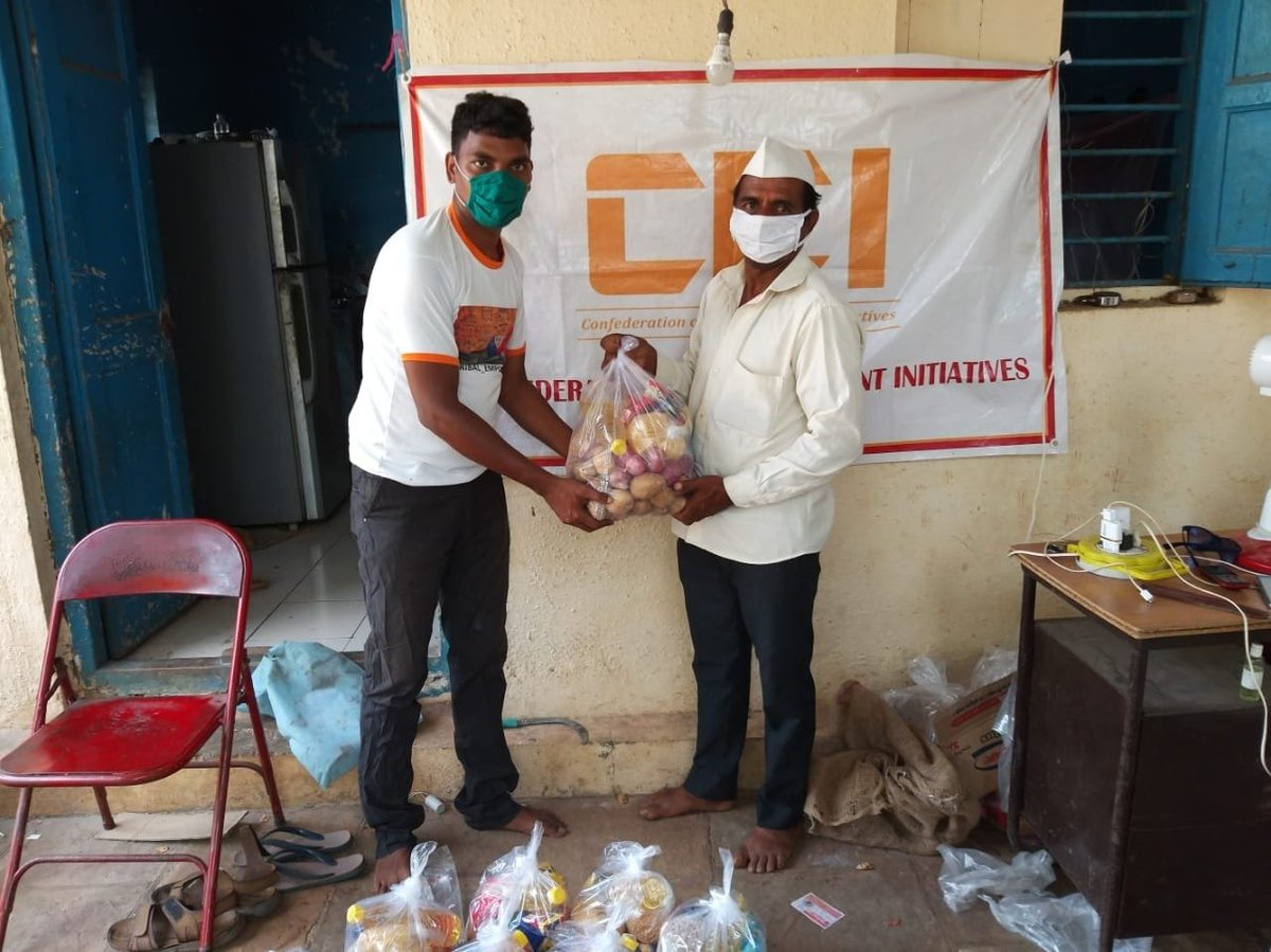 Tribal Deu ji belongs from Mulsi village which is located in in a low lying area, the tribal settlements in Mulsi village suffered heavy damage in #CycloneNisarga. @ceiempowers provided food provisions for 1 month for his  family #CEIReliefInitiative https://t.co/H1StCmnRb9
