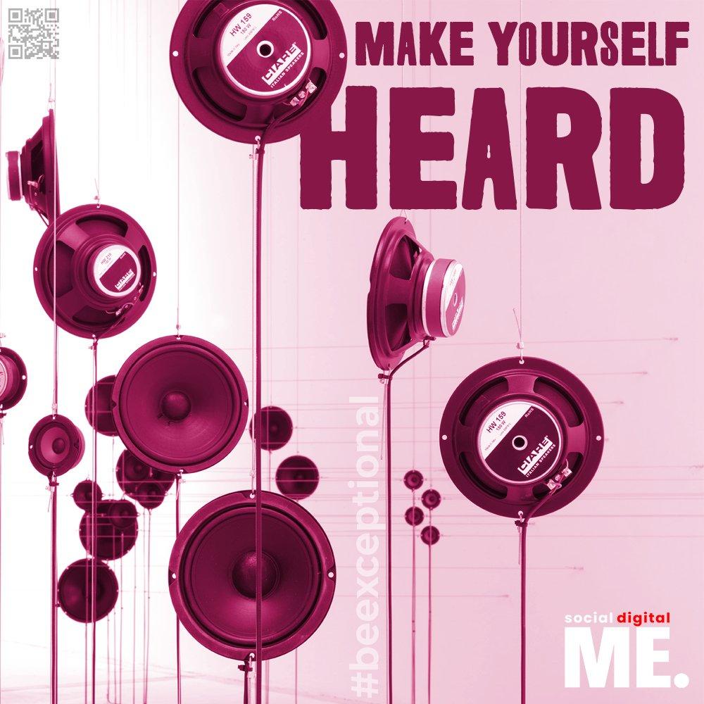 Make yourself HEARD.  #beexceptional #letsbegreat #sound #speaker #loud #music #art #creative #positivity #positivevibes #grow #growth #mindset #inspiration #inspirationalquotes #motivate #motivation #motivationalquotes #goodvibes #socialdigitalme #social #digital #me https://t.co/cmbMp7vt7H