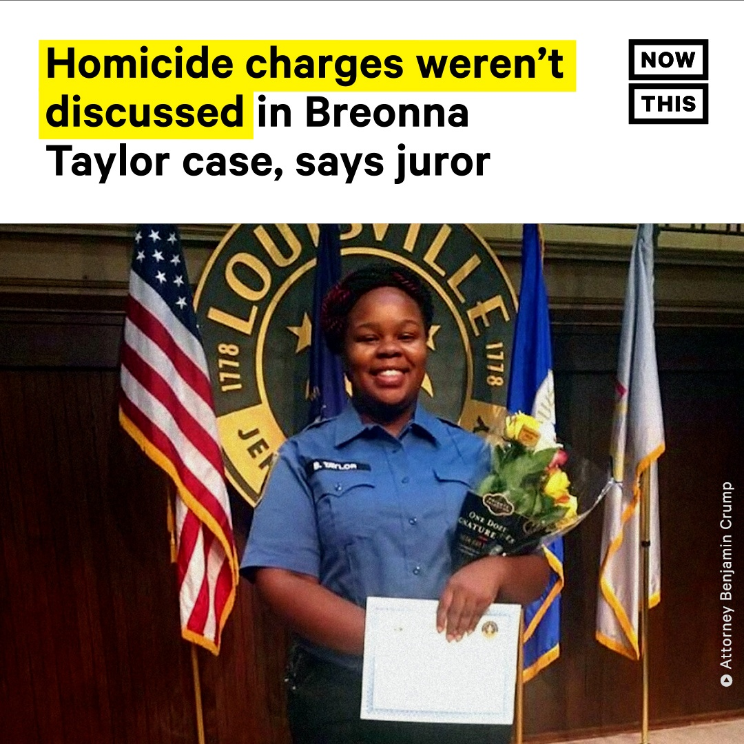 A grand juror from the Breonna Taylor case in Kentucky has released a statement discussing how the grand jury was never given a chance to deliberate if homicide charges were justified against the police officers who shot and killed Taylor. https://t.co/rvXjI20V88