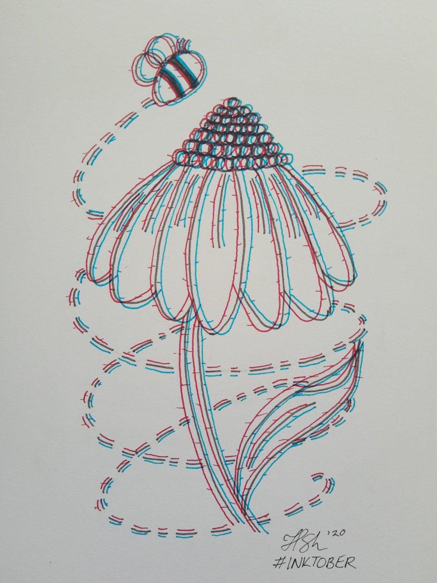 Dizzy...  Catching up on some missed Inktober promts.  #inktober #inktober2020 #inktoberday19 #dizzy #floral #flowers #bee #art #artist #ArtistOnTwitter #artwork #handdrawn #selftaughtart #selftaughtartists #sakuramicron https://t.co/tEKmQg9hqt