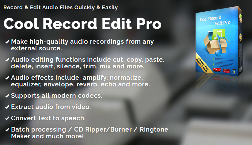 FLASH SALE Audio Recording and editing software Cool Record Edit helps you transfer tapes, LPs, live performances, Internet radio, TV, DVD to your hard drive.  Save 10# w DDD Code DVBH349GBJ @ https://t.co/RkDBY5zSet #SoundRecording #SoundEffects,  #AudioEditing #audioEngineer https://t.co/lRNB2Ztwpm