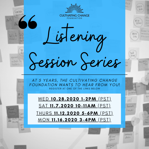 We want to hear from you!  Join us for 1 of 4 different listening sessions. Stand up, be heard, advocate.    Visit https://t.co/KOnYxwMZxa to register and for more information.   #cultivatingchangefoundation #lgbtq #agriculture #inclusion #beheard https://t.co/0NnmJthazt