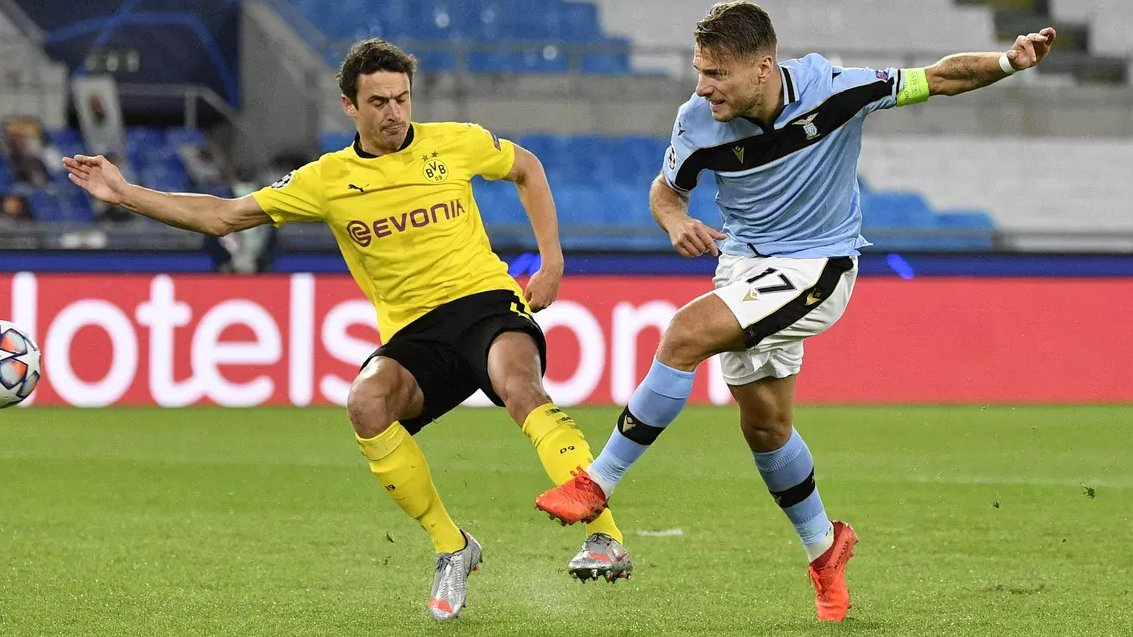 Sofascore On Twitter Focus Ciro Immobile Was The Man Of The Match As Lazio Beat Borussia Dortmund 81 Played 37 Touches 1 Goal 3 Shots 2 On