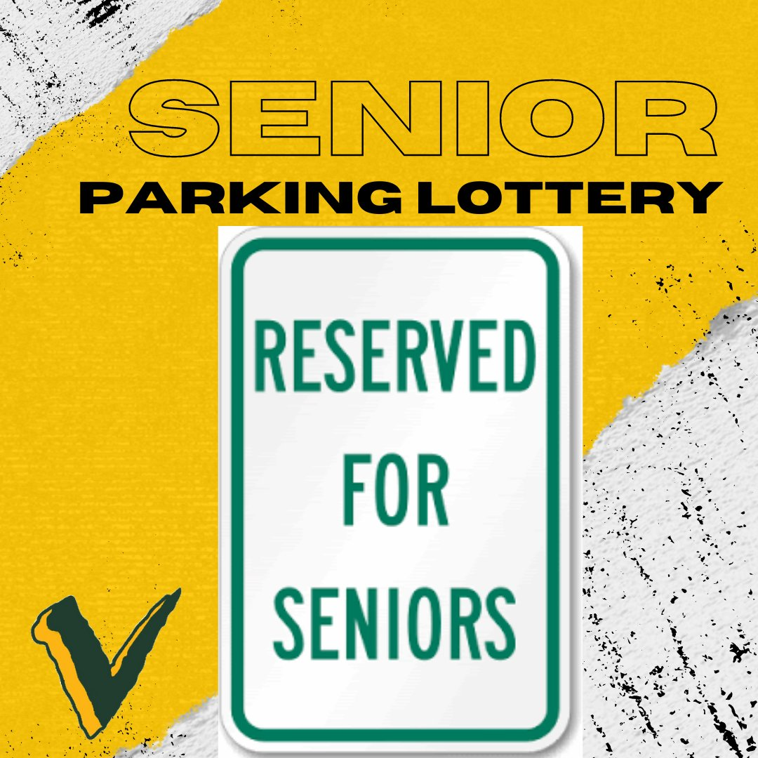 There are a limited number of senior reserved parking spaces in the Atrium and Tennis lots and they will be assigned randomly on Friday morning, Oct. 30th. You have until 5:00 pm on Thursday, Oct. 29th to enter the lottery. Lottery Form on https://t.co/EGQUWfMsHG https://t.co/6Y3xm0usXv