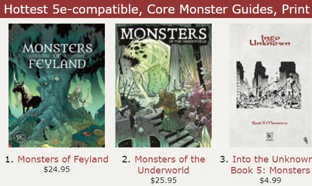 #dnd The bestselling hardcover/softcover 5E monster books @DriveThruRPG #monsterseries Monsters of Feyland: https://t.co/s6AN6QPARV Monsters of the Underworld: https://t.co/n7exST3VgF https://t.co/nbUIOHDehR