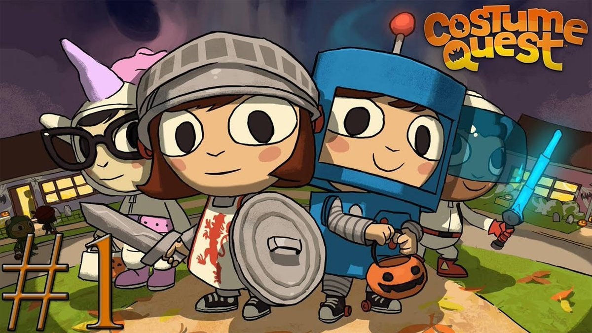 Don't forget that Costume Quest is currently on sale right now on Steam, Humble Bundle, and itchio!   Transform into robots, knights, ninja  French fries, and more in this fantastic story of adventure and candy! https://t.co/QZMgiA30K7