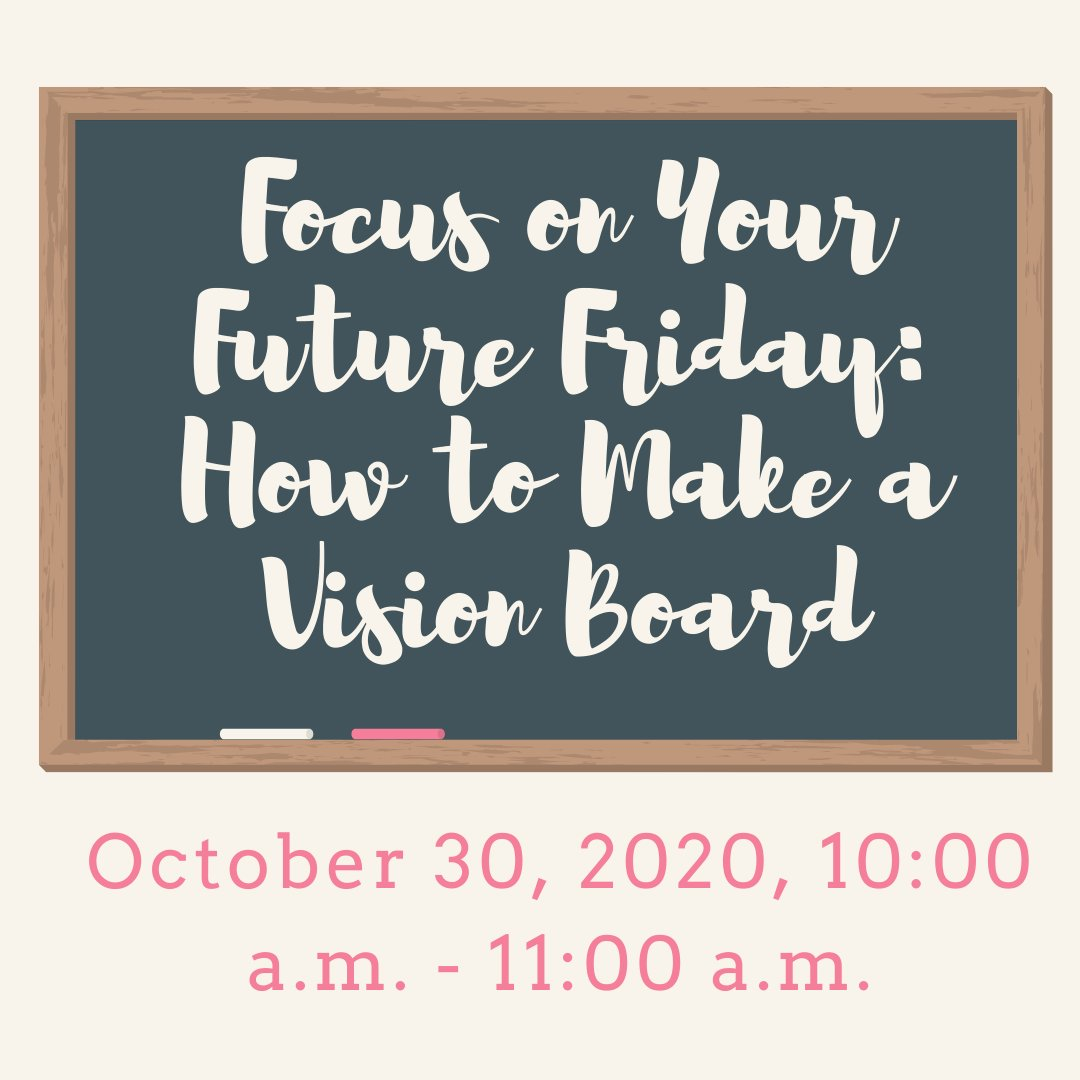 October 30, 2020, 10:00 a.m. - 11:00 a.m. Career Specialist Kymmie Cartledge in Lexington School District One will teach students how to create a vision board to capture their goals, dreams, and aspirations.  Join Virtually:  https://t.co/6JW0ANAhHm https://t.co/Z5qoJYFGrG