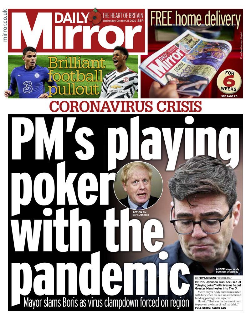 PM's playing poker with the pandemic and lives #tomorrowspaperstoday