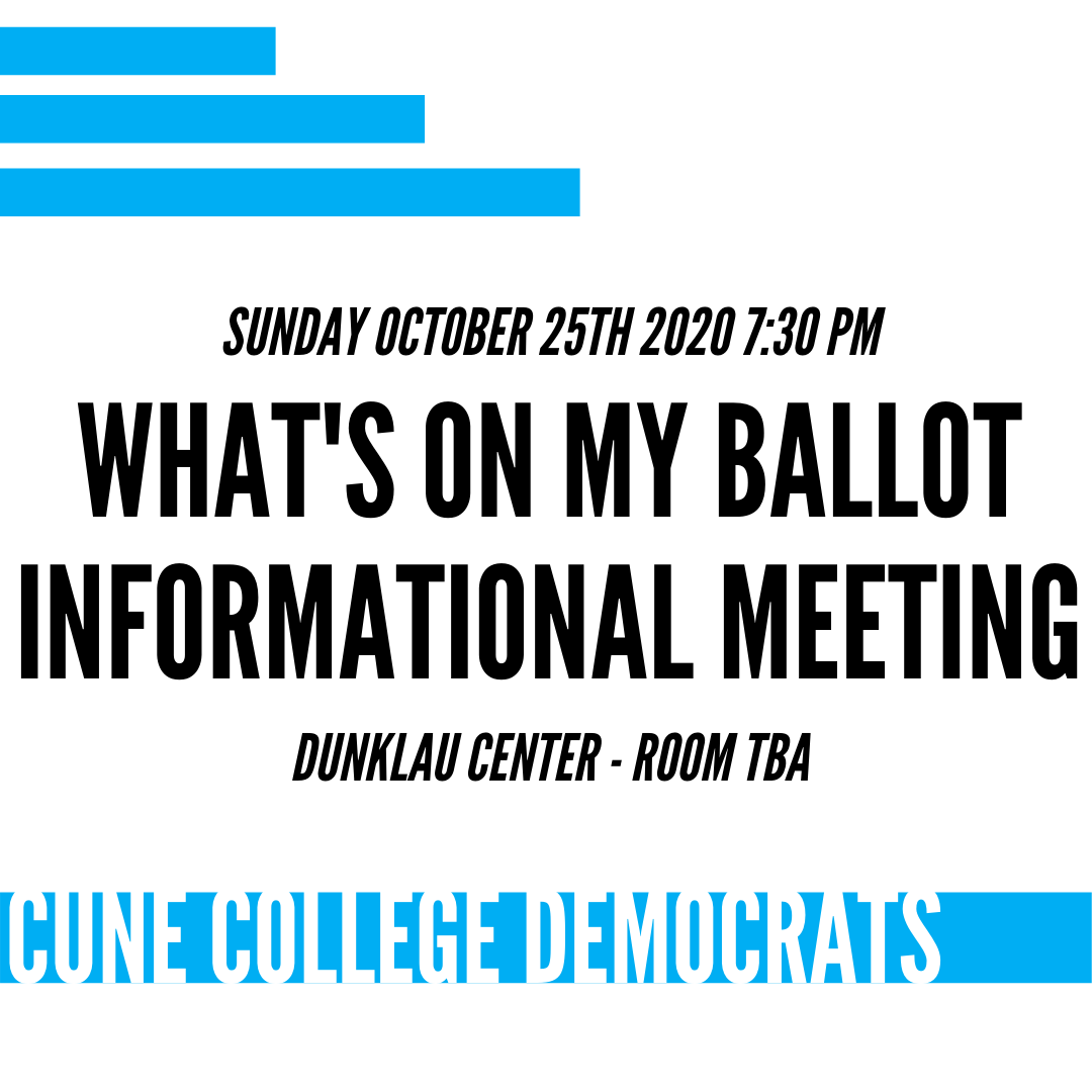 Hey Concordia Students! Our next meeting will be Sunday October 25th at 7:30pm. This meeting will focus on the 2020 election and we will help answer the questions that you have about the candidates and policies on your ballot. https://t.co/UbTu9xlLKQ