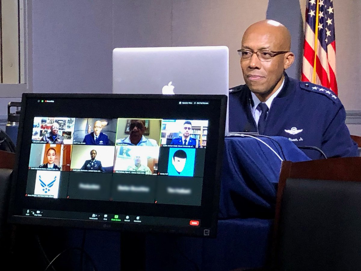 What an honor & privilege to host a virtual discussion with two #TuskegeeAirmen & @usairforce cadets today. I'm grateful that they've paved the way, not just for me, but for so many more. More soon from @AVCupdate's 23rd Annual Veterans Conference.