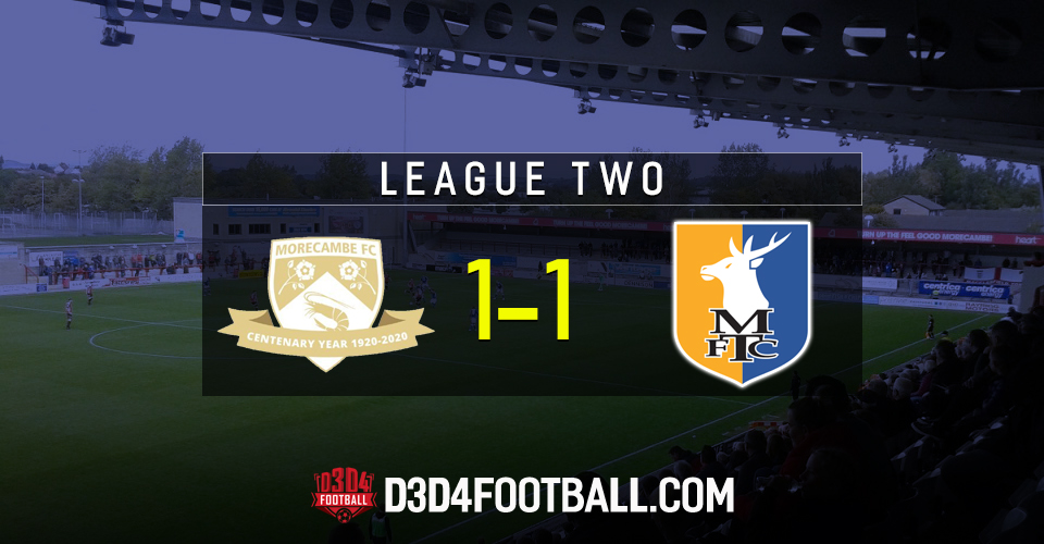 ➡️Morecambe managed to buck the trend of either winning in style or getting completely trashed when the drew with Mansfield on Tuesday night 🦐⚽️  D3D4 Shrimps writer Roger Fitton reports on the stalemate  Read more here 📝👇  https://t.co/SwlkgkYSdG  #Stags #COYS https://t.co/2jTr9nnXZp
