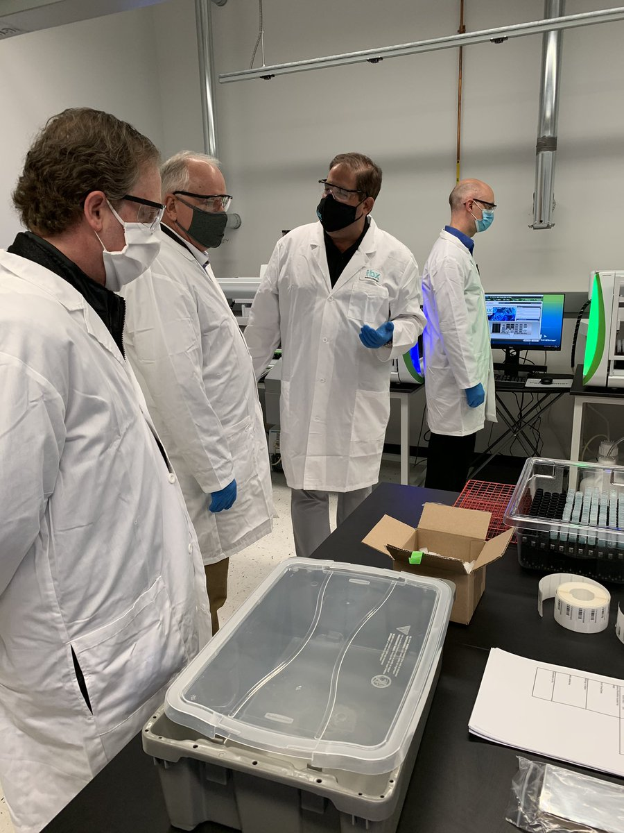 Excited to be a part of the grand opening for our new saliva testing lab – with capacity to process 30,000 tests each day – in Oakdale. The only way we'll get through this pandemic is by working together. This is another win for our public-private partnerships! 🧪🔬💪