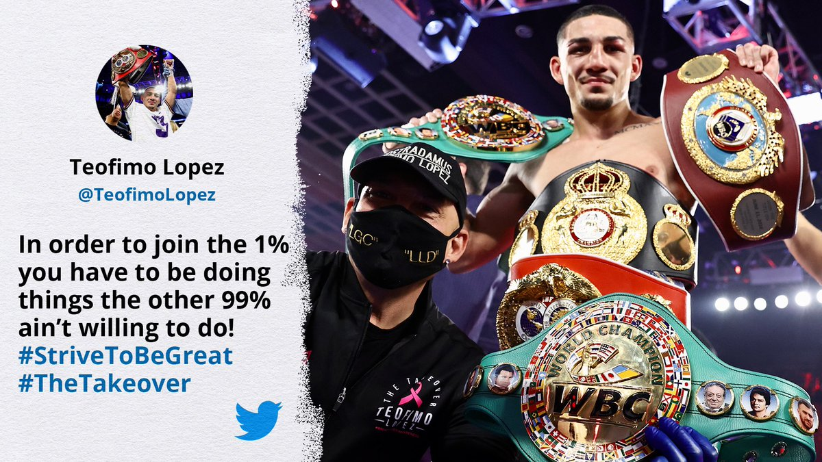 Some 4-belts-at-age-23 real talk right here. 👑  @TeofimoLopez | #TheTakeover https://t.co/S1I3kL8jOB