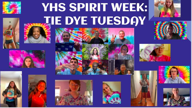 YHS Celebrates Tie Dye Tuesday during Virtual Spirit Week! <a target='_blank' href='http://twitter.com/APSVirginia'>@APSVirginia</a> <a target='_blank' href='http://twitter.com/Principal_YHS'>@Principal_YHS</a> <a target='_blank' href='http://twitter.com/yhssports'>@yhssports</a> <a target='_blank' href='http://twitter.com/YorktownYB'>@YorktownYB</a> <a target='_blank' href='http://twitter.com/YorktownSentry'>@YorktownSentry</a> <a target='_blank' href='http://twitter.com/YorktownHS'>@YorktownHS</a> <a target='_blank' href='https://t.co/WiEIFdUyp2'>https://t.co/WiEIFdUyp2</a>