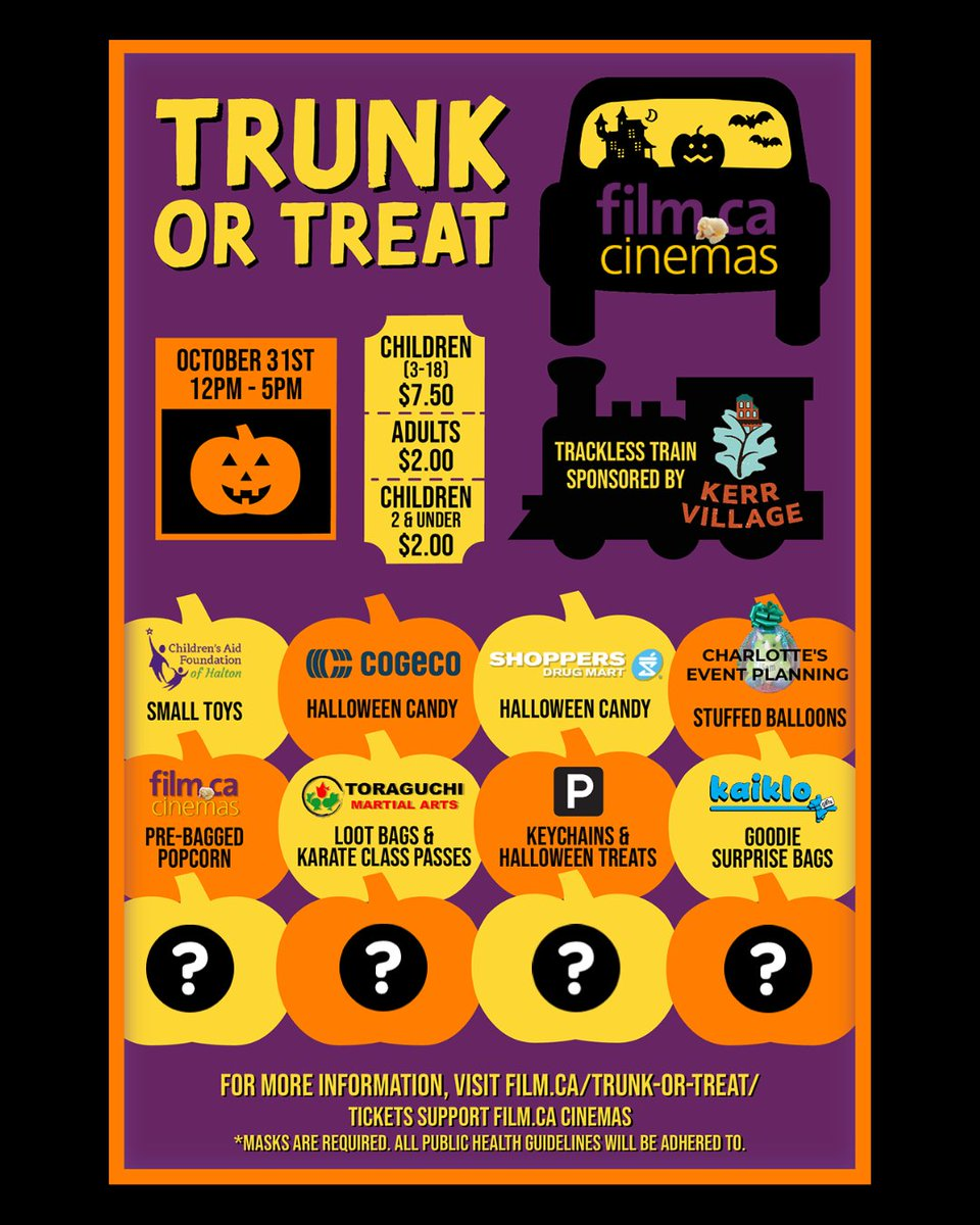 Still looking for those interested in decorating their trunk and handing out candy to kids as part of our Trunk or Treat event on October 31st! 🎃👻 (Best decorated trunk wins passes to https://t.co/9TNzgavfeD 🎟)  Apply at https://t.co/l48PZTt43E! 📝   #halloween #trunkortreat https://t.co/BjTaTV1oJw