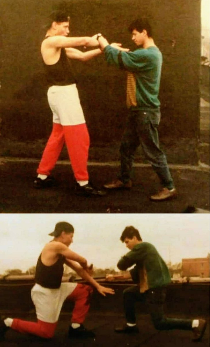 My cousin just put these pictures up haven't seen them in years 1st pic cousin Dragon Lee & The Tiger doing some Wing Chun (Sensitivity Drills) & 2nd pic doing some Filipino Kali (Stick Fighting Drills) on the roof top Bronx, NY #AnthonyTheTigerCruz #TeamRenzoGracie @Twitter https://t.co/kQ2l653NlQ