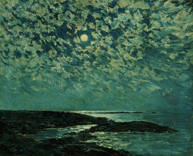 Moonlight, Isle of Shoals by Childe Hassam https://t.co/eiU5izwlsT